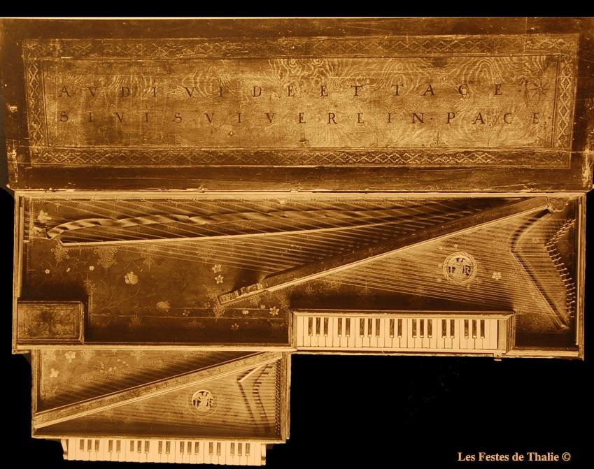 Epinette virginale de Johanes Ruckers vendue à Mr George Harding en 1929 et exposé dans le musée qui porte son nom à Chicago, USA