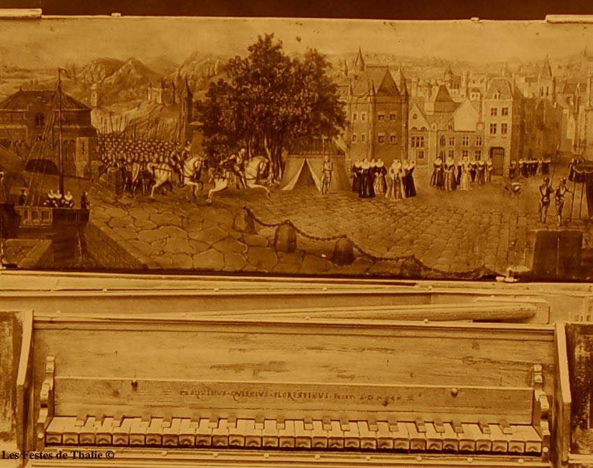 II_18  Epinette XVIIe vendue au musée instrumental George Harding Chicago / virginal polygonal italien attribué à Pasquinus Quericus - Florence, 1610