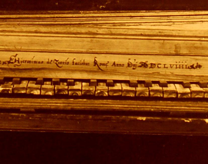 II-34. Épinette signée Hieronomus de Zentis Rome 1658