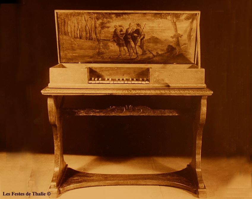II-36 Clavicorde XVIIe vendu au musée instrumental George Harding Chicago
