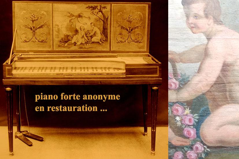 II-48  piano forte anonyme (fin XVIIIème siècle)