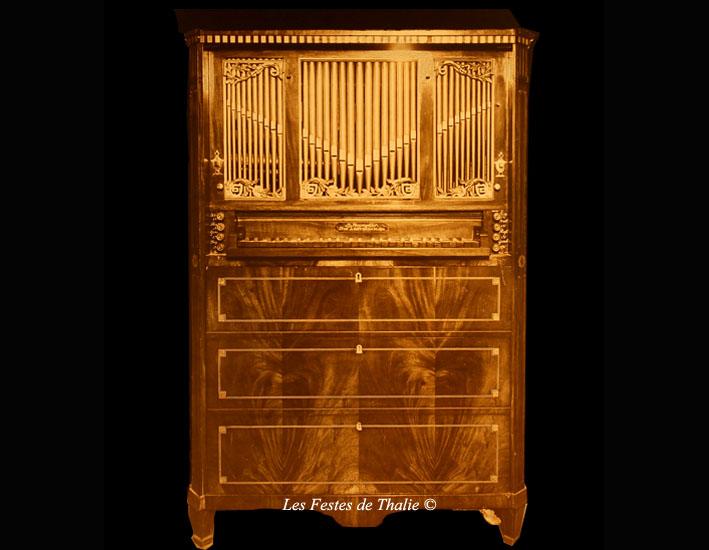 III-6  vendu pour le musée instrumental F. George Harding à Chicago – n°745 à Gobin le 28 février 1920/Orgue secrétaire de Johannes Stephanus Strümphler