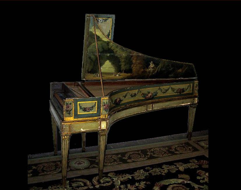"I_22 clavecin signé ""Jacobus Rodolphus de Zentis 1650"" - coll privée"