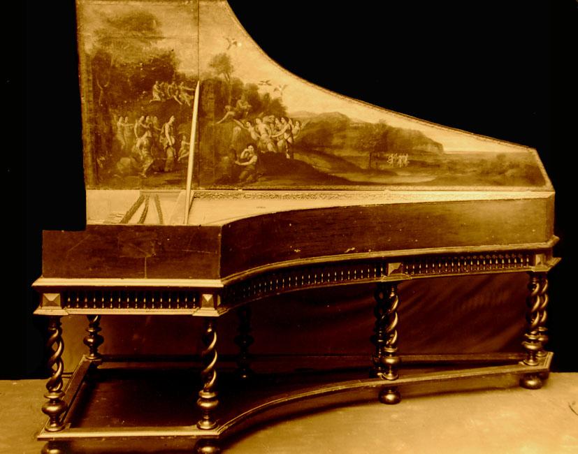 I_23    clavecin français du 17ème s détruit dans bombardement Rotterdam