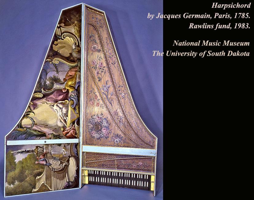 Clavecin de Jacques Germain, Paris, 1785 - National Music Museum – The University of South Dakota : NMM 3327.