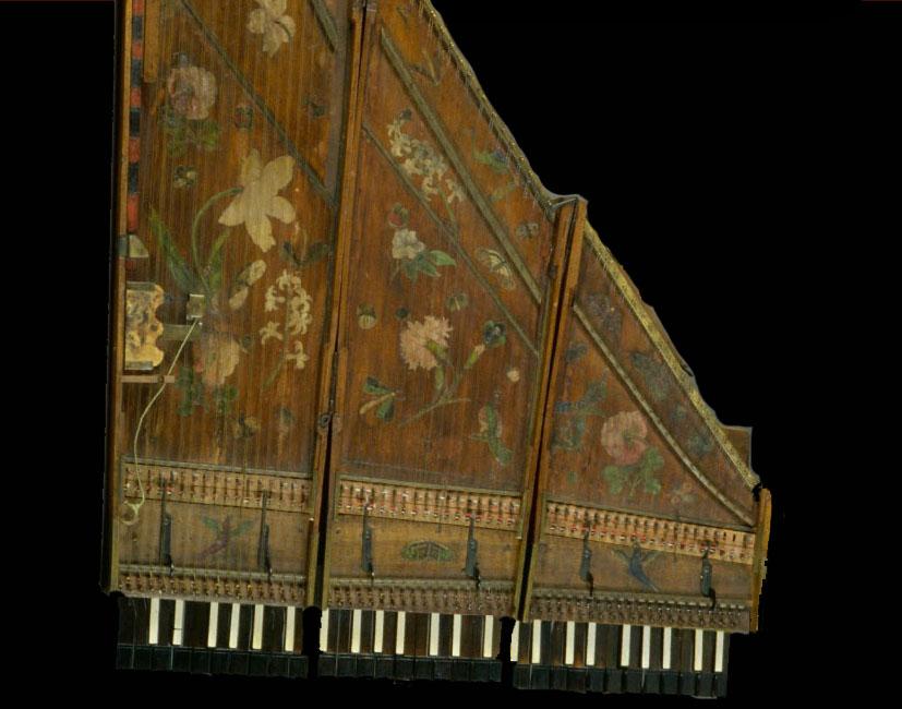 I_33   Clavecin brisé Jean Marius  vers 1700  E.979.2.2  Cité de la Musique, Paris