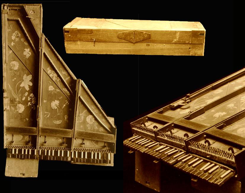 Clavecin brisé de Marius vendu à Mme de Chambure / E.979.2.2 Cité de la Musique, Paris