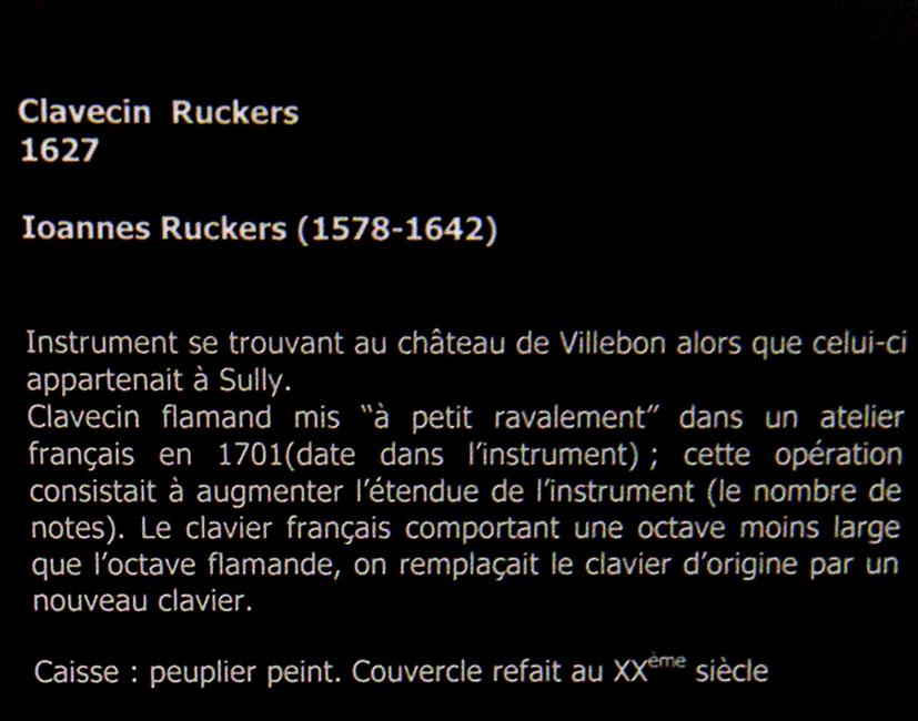 Clavecins Ruckers-1627-anciennement au Château de Villebon