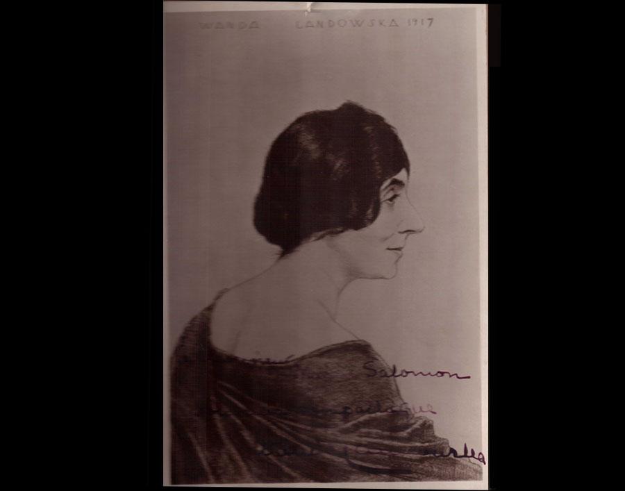 dédicace de Wanda Landowska à Marcel Salomon